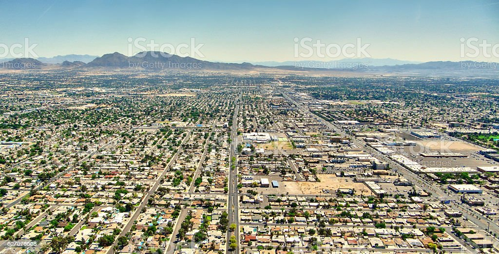 Las Vegas Nevada - Aereal view stock photo