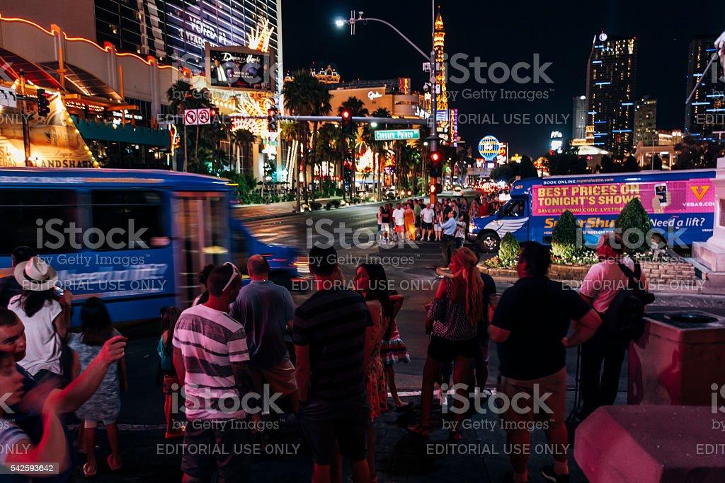 Las Vegas night stock photo