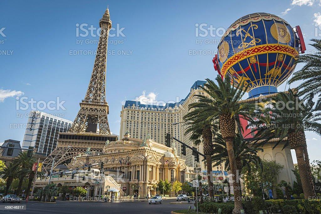 Las Vegas Paris casino Eiffel Tower on The Strip USA stock photo