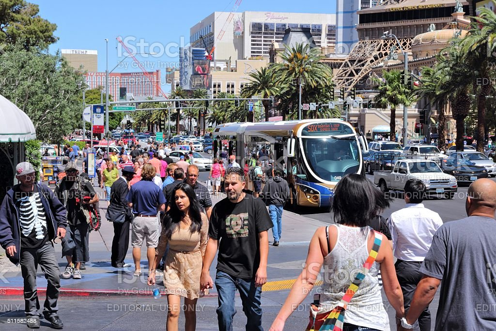 Las Vegas people stock photo