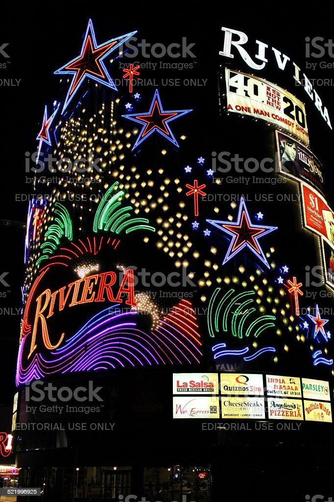 Las Vegas Riviera Hotel stock photo