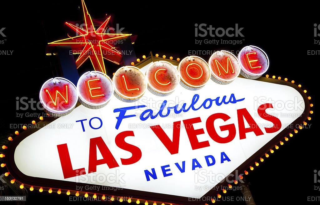 Las Vegas Sign a night royalty-free stock photo