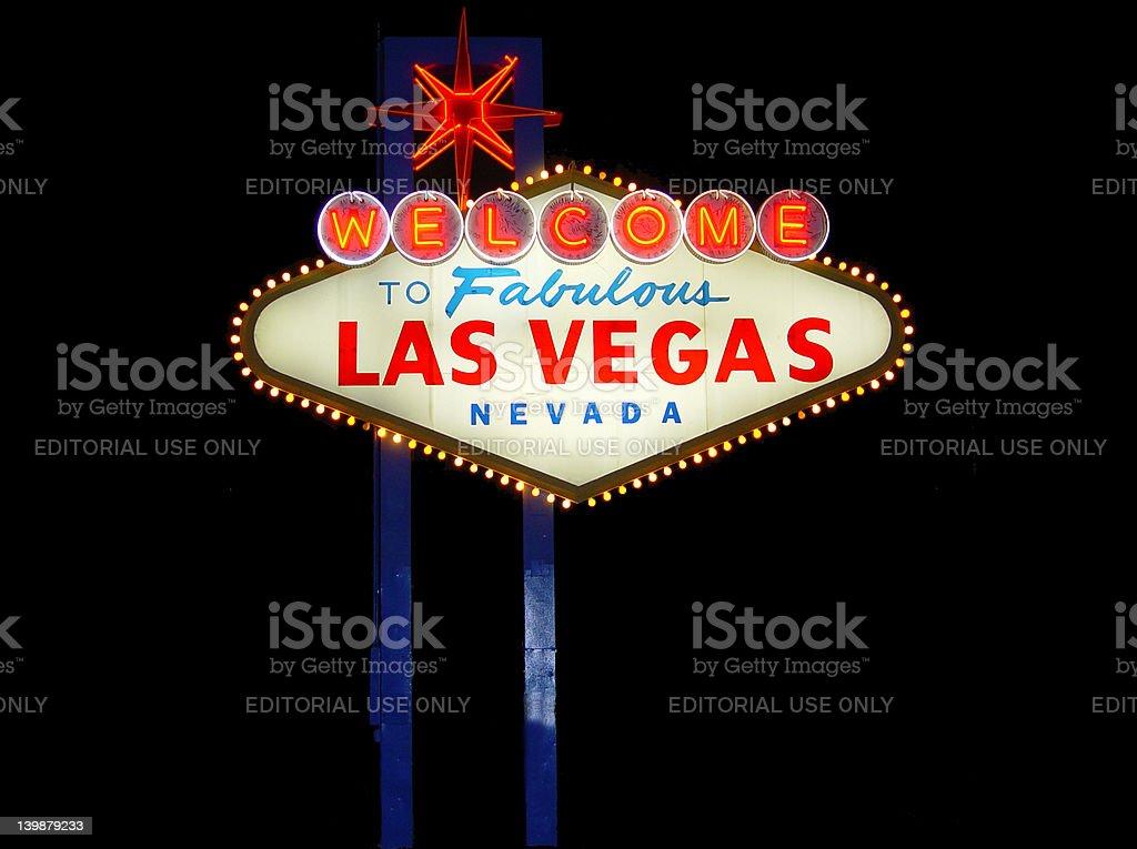 Las Vegas Sign Full Shot royalty-free stock photo
