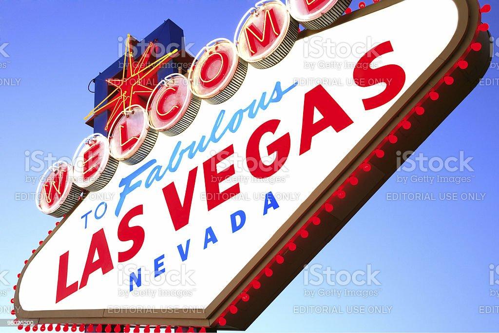 Las Vegas sign, NV royalty-free stock photo