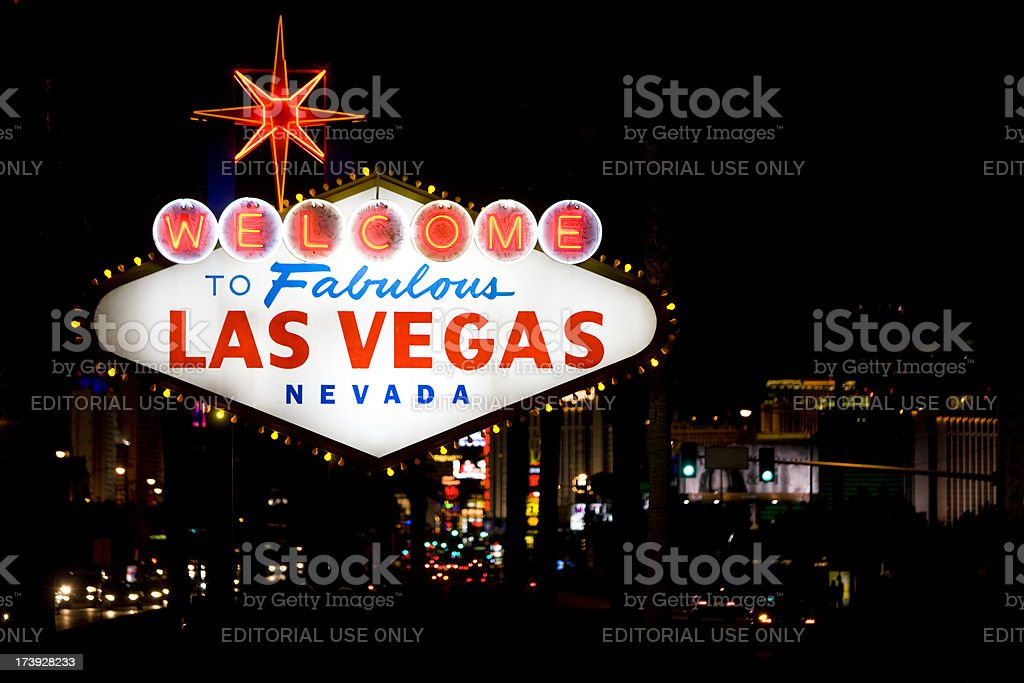 Las Vegas Sign royalty-free stock photo