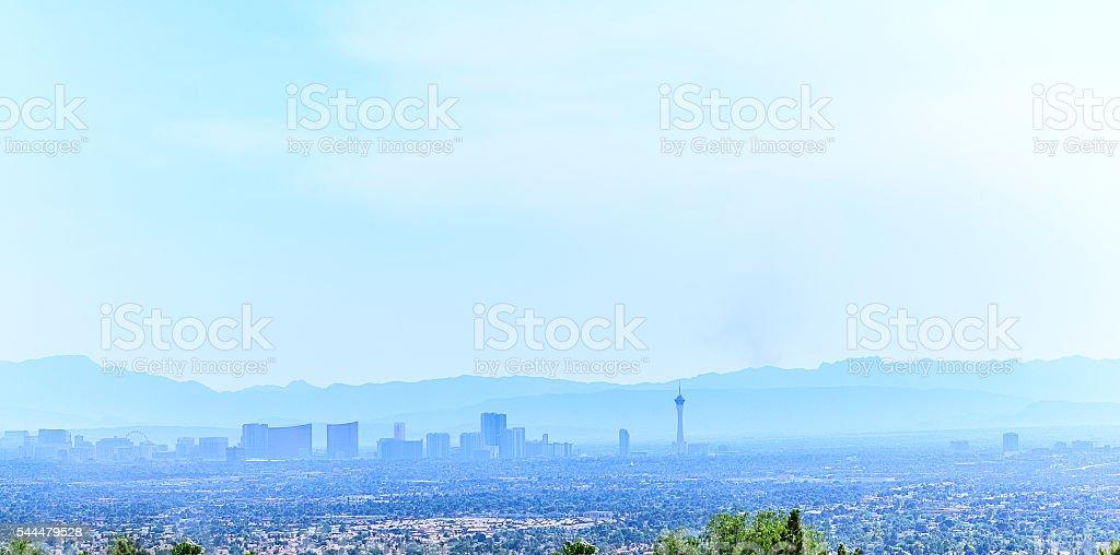 Las Vegas Skyline and Mountains, Nevada stock photo