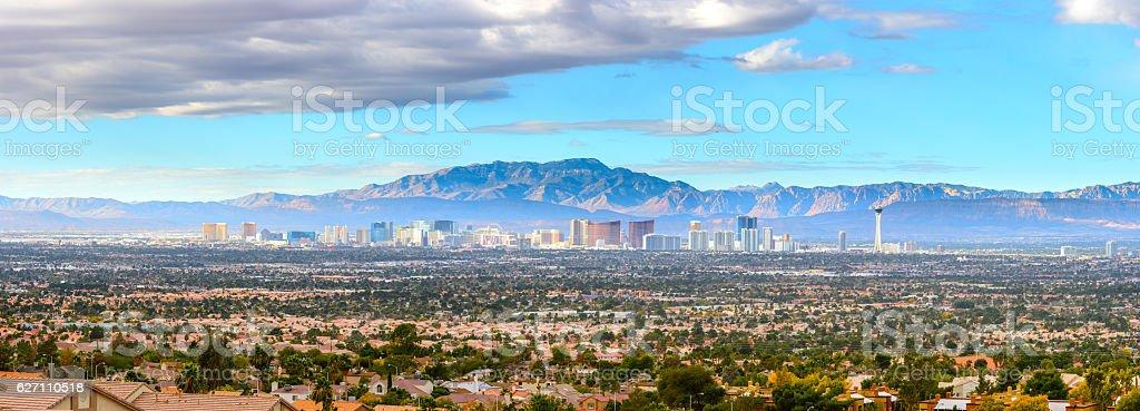Las Vegas Skyline Panorama stock photo