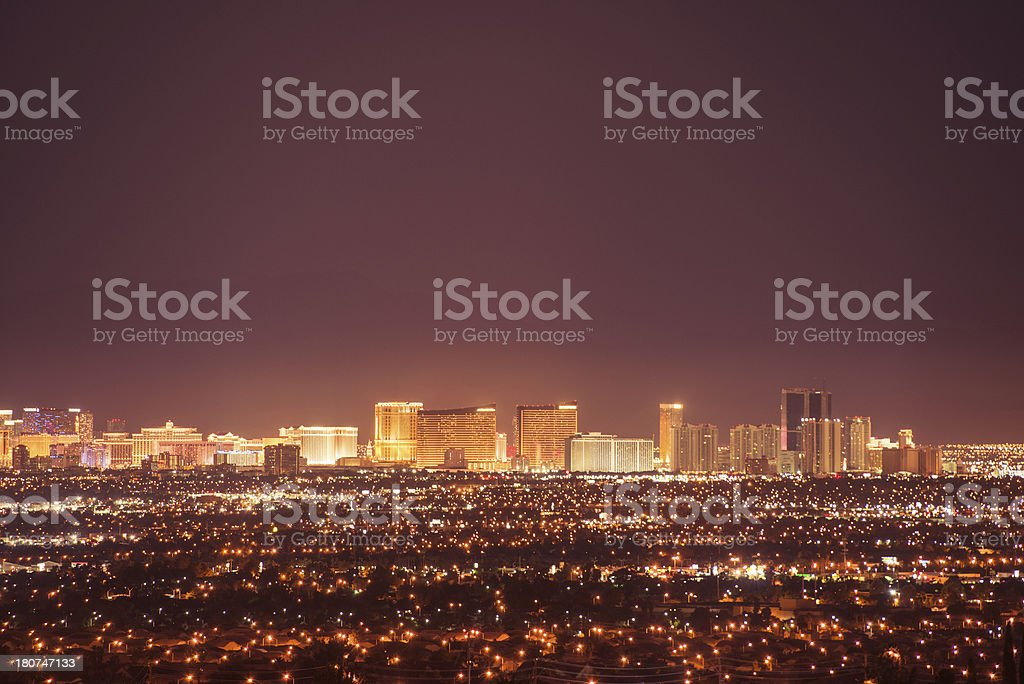 las vegas skyline royalty-free stock photo