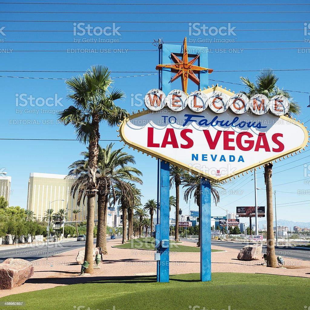 Las Vegas street sign on the Strip royalty-free stock photo