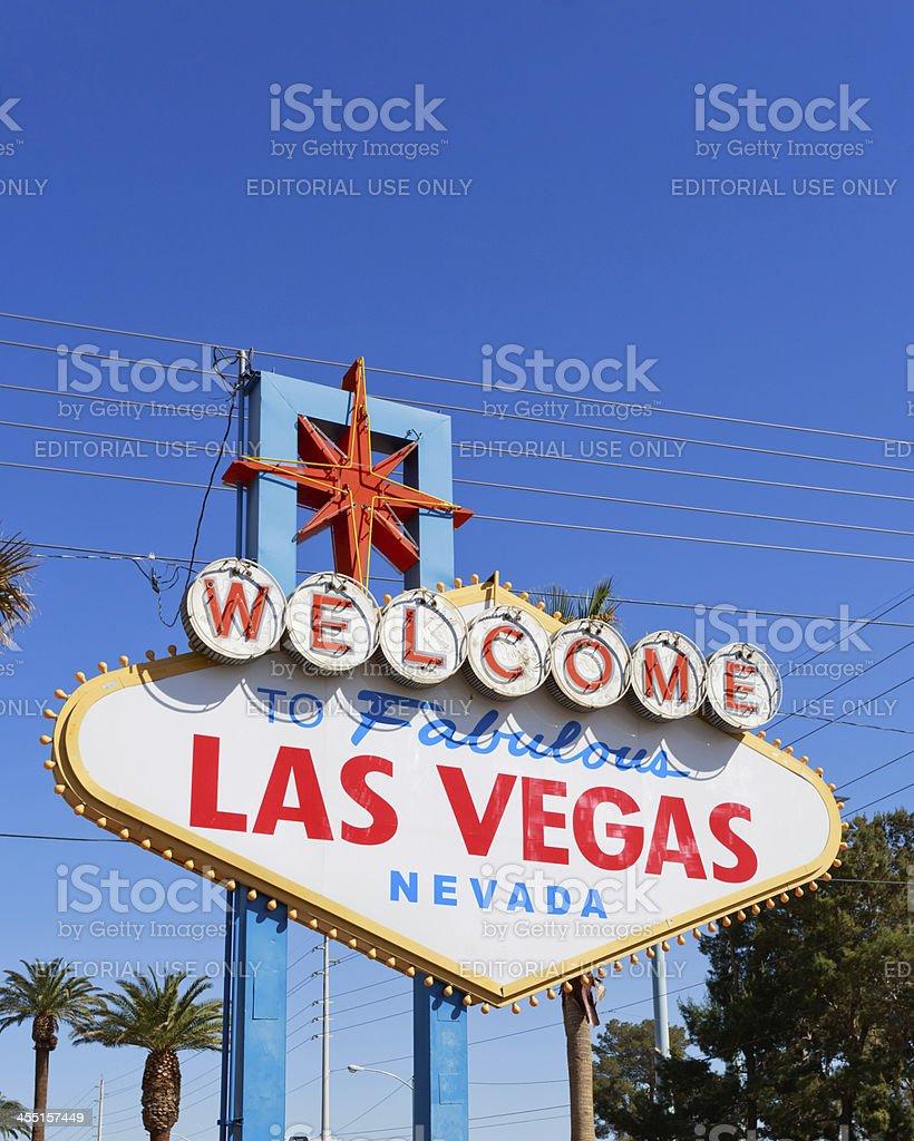 Las Vegas street sign royalty-free stock photo