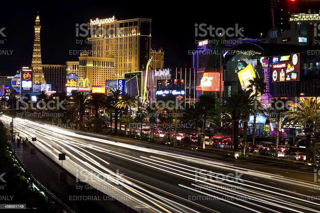 Las Vegas Strip at Night royalty-free stock photo