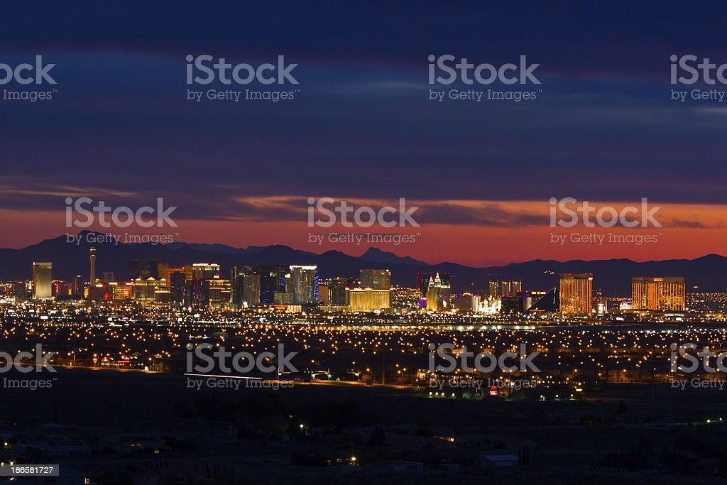 Las Vegas Strip at Sunrise stock photo