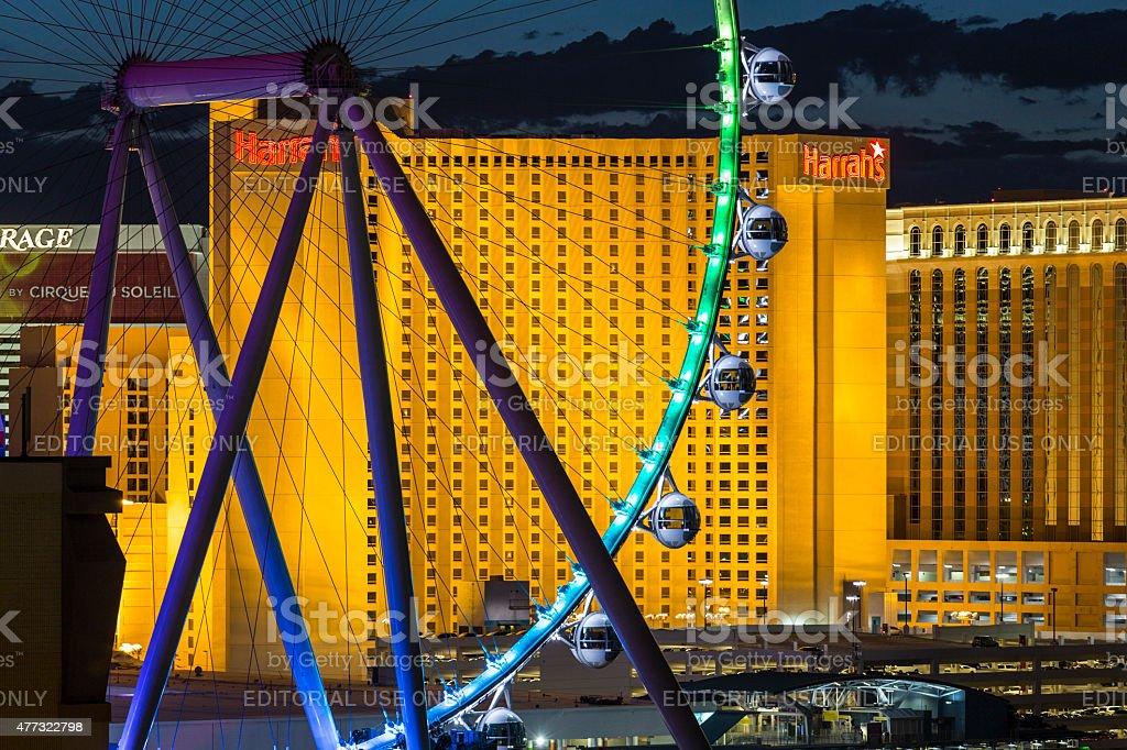Las Vegas Strip Ferris Wheel Detail stock photo