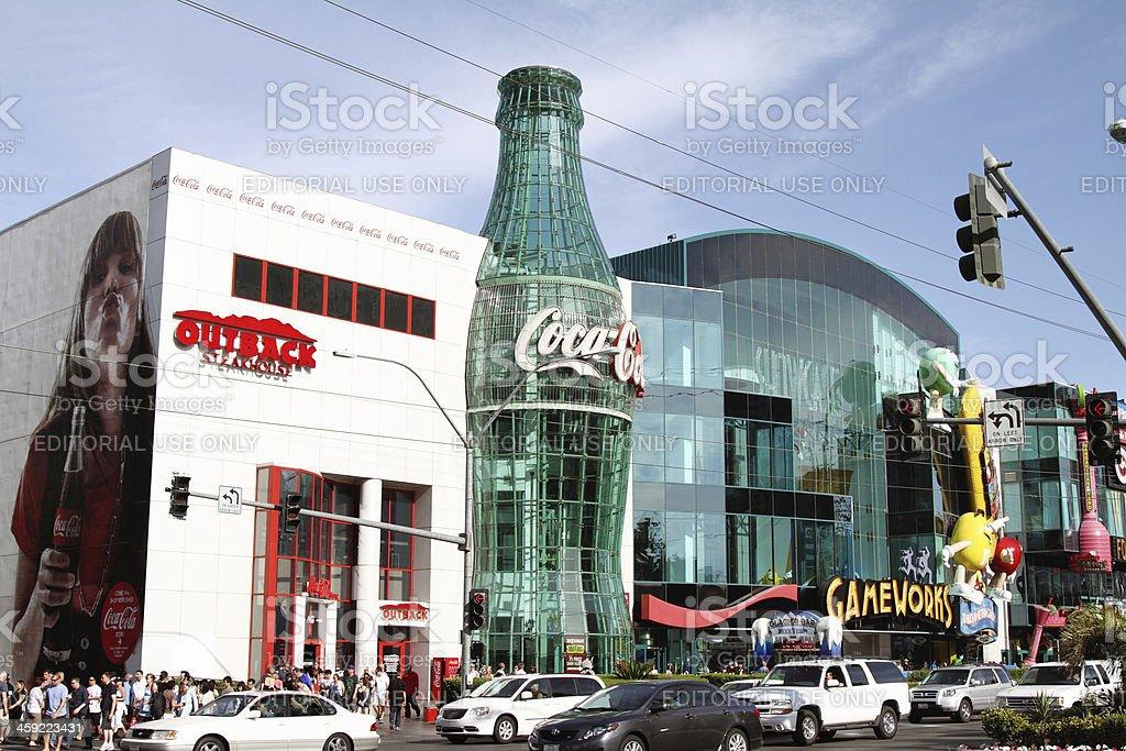 Las Vegas strip near Coca Cola World stock photo