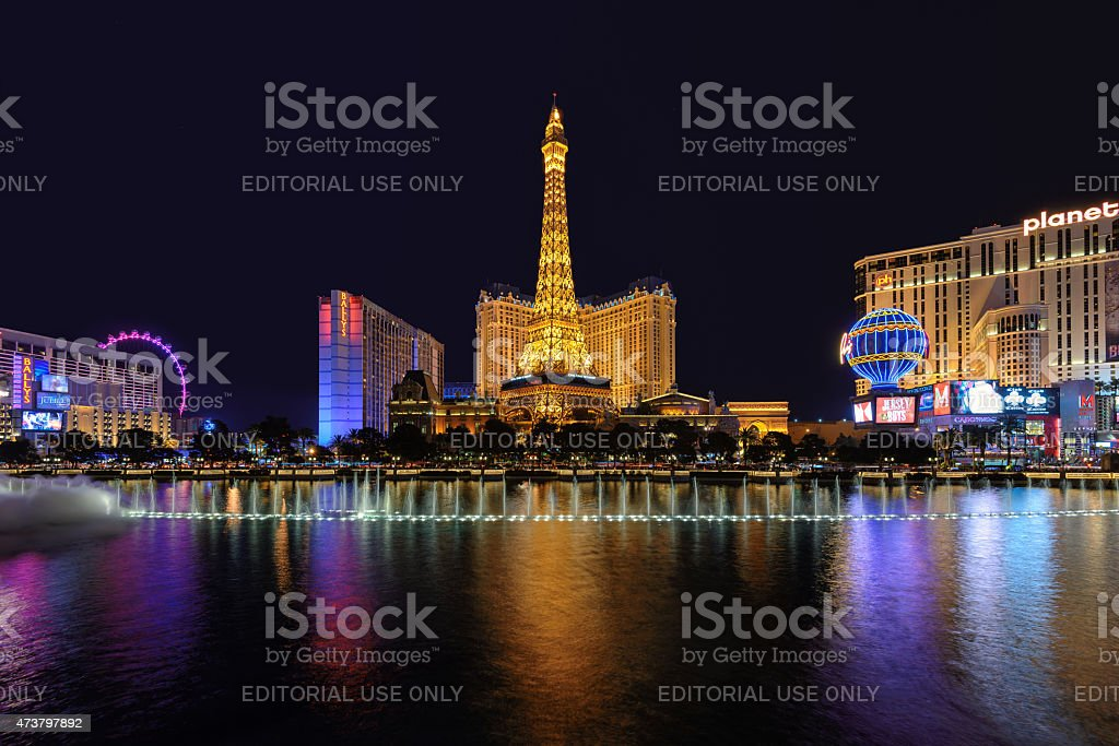 Las Vegas Strip, Night illumination stock photo