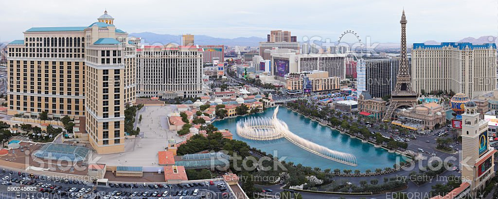 Las Vegas Strip Panorama stock photo