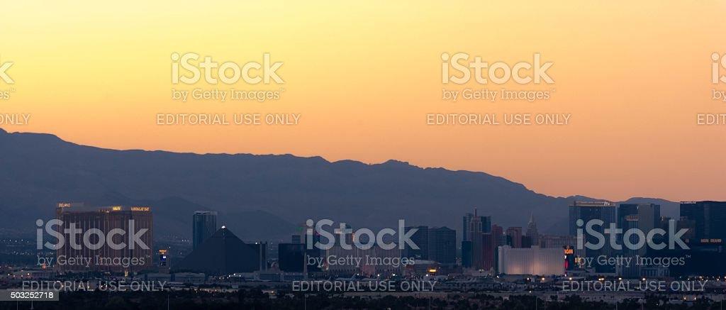 Las Vegas Strip Skyline stock photo