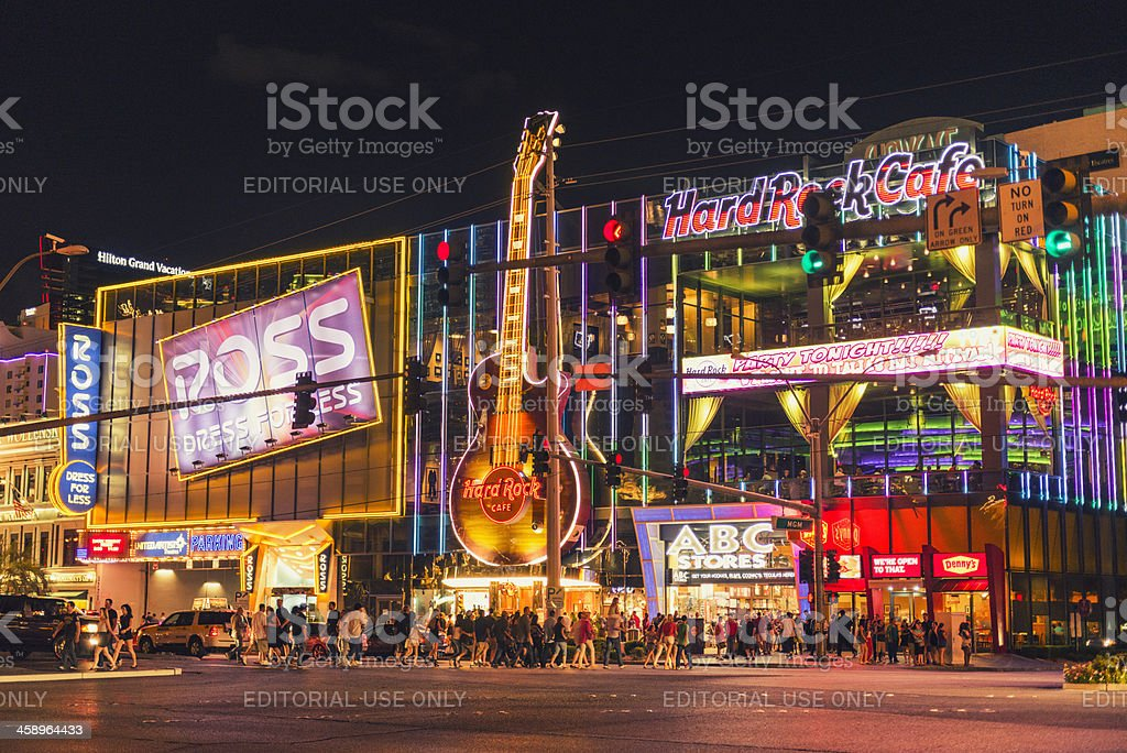 Las Vegas Strip urban scene stock photo