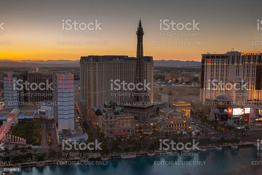 Las Vegas sunset before the lights go on stock photo