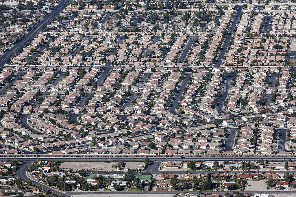 Las Vegas Valley Housing stock photo