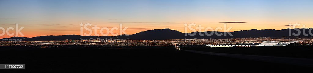 Las Vegas valley, Nevada stock photo
