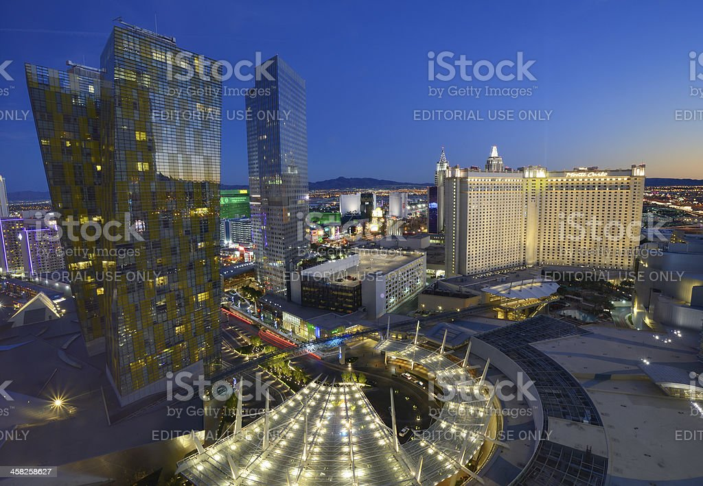 Las Vegas Veer Towers, Aria, Mandarin Oriental, MGM, Monte Carlo stock photo