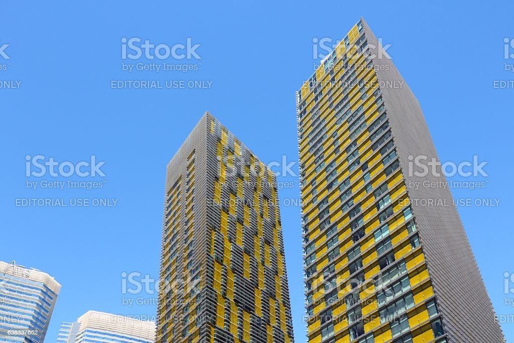 Las Vegas Veer Towers stock photo