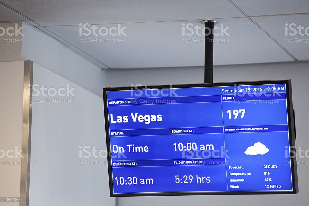 Las Vegas weather report stock photo