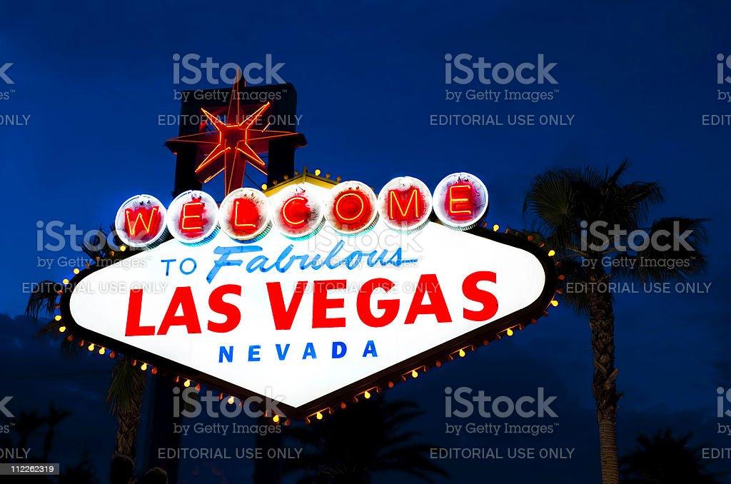 Las Vegas welcome sign stock photo