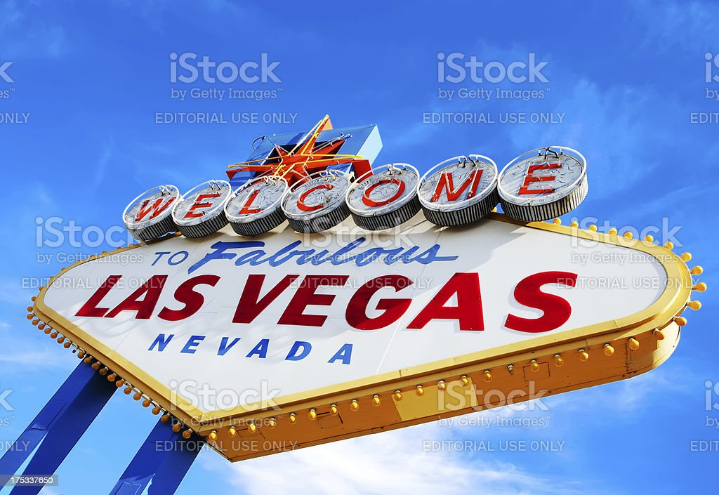 Las Vegas Welcome Sign royalty-free stock photo
