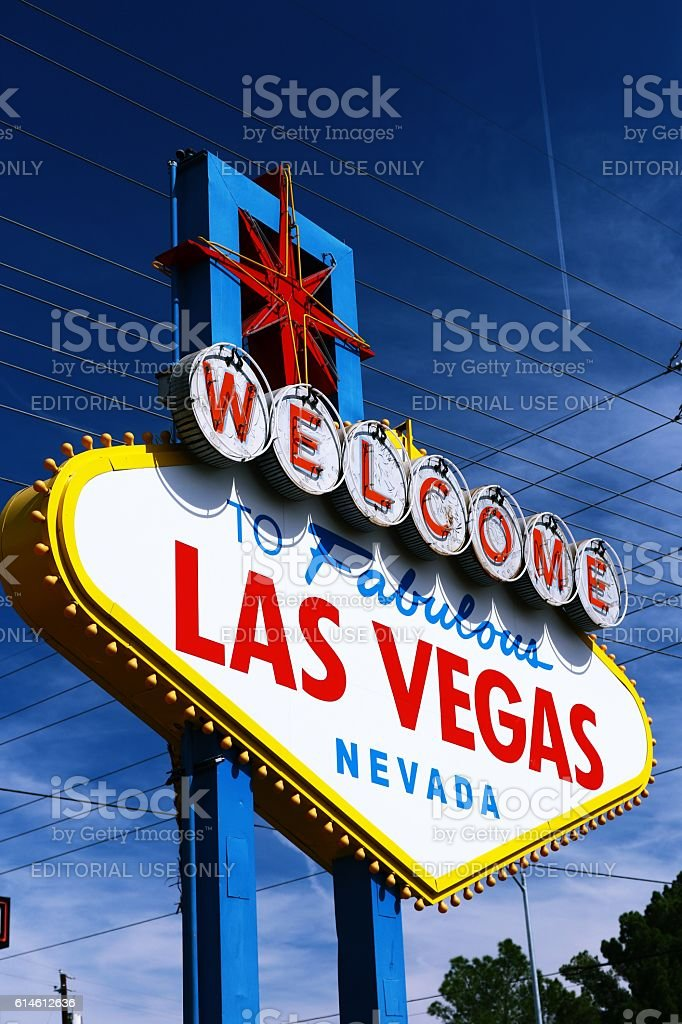 Las Vegas, Welcome To Fabulous Las Vegas Nevada Sign stock photo
