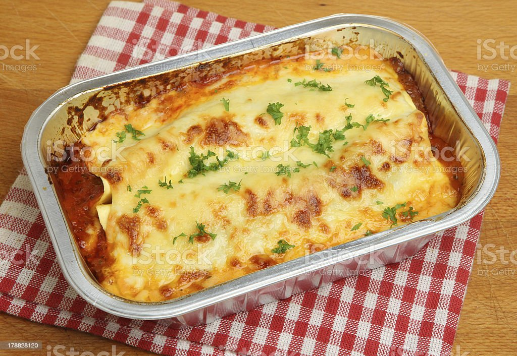 Lasagna Convenience Meal stock photo