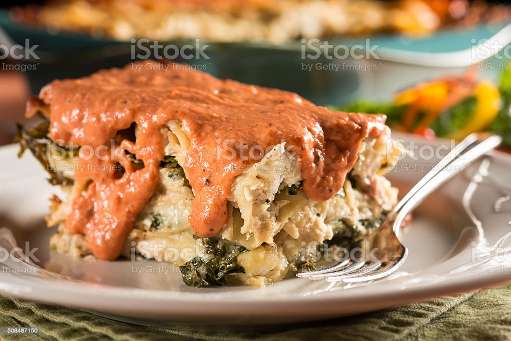 Lasagna Cream Sauce stock photo