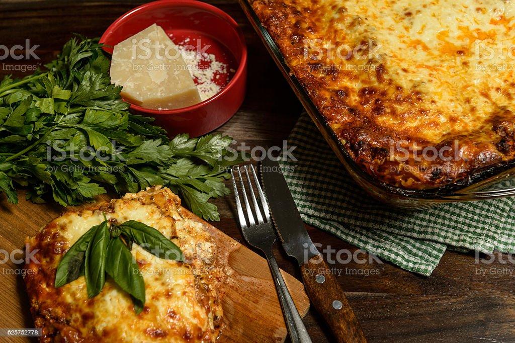 Lasagna Feast stock photo