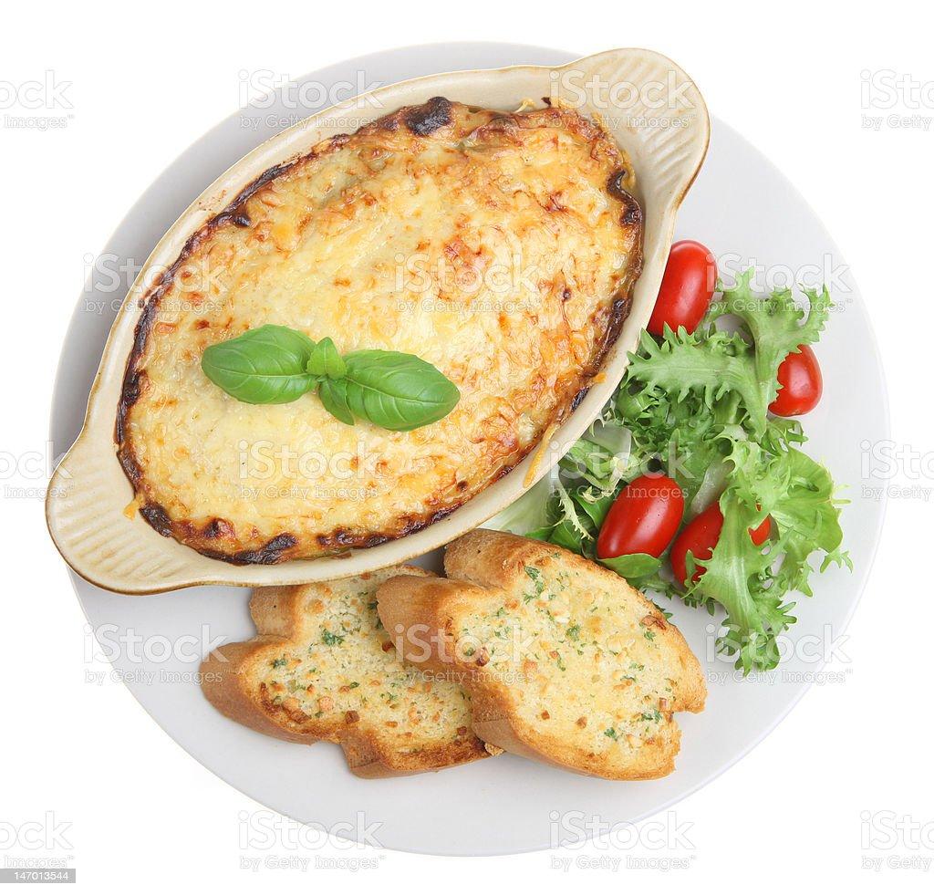 Lasagna Meal royalty-free stock photo