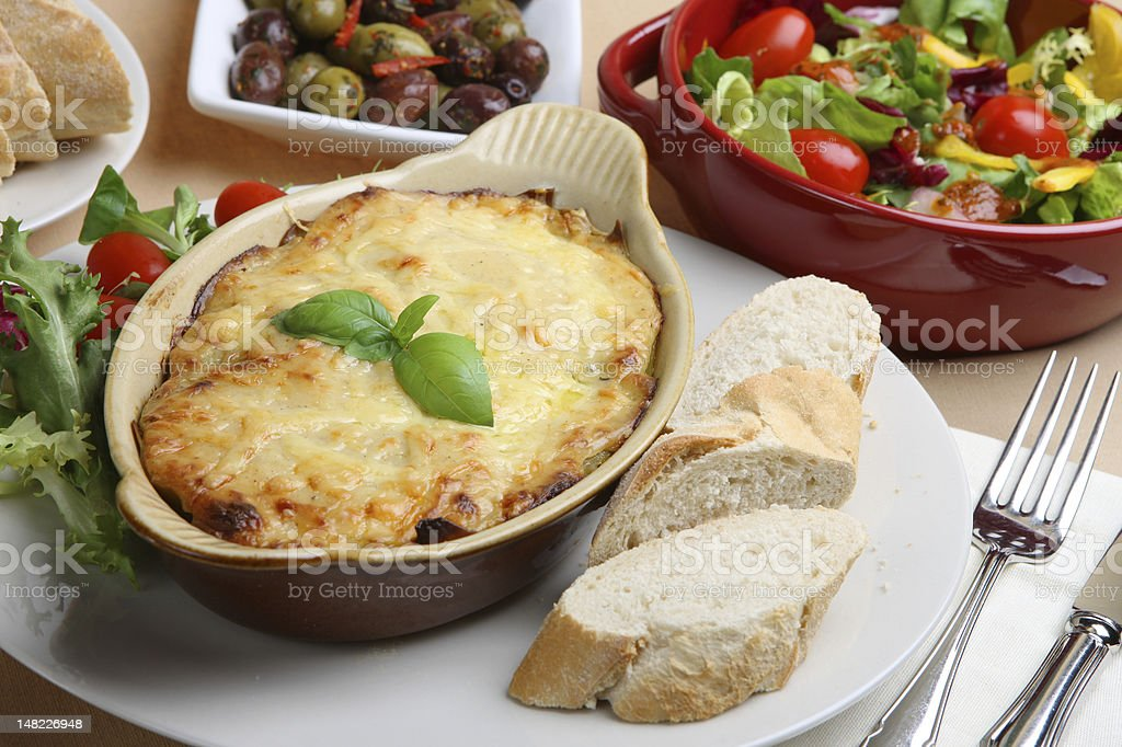 Lasagna Meal royalty-free stock photo