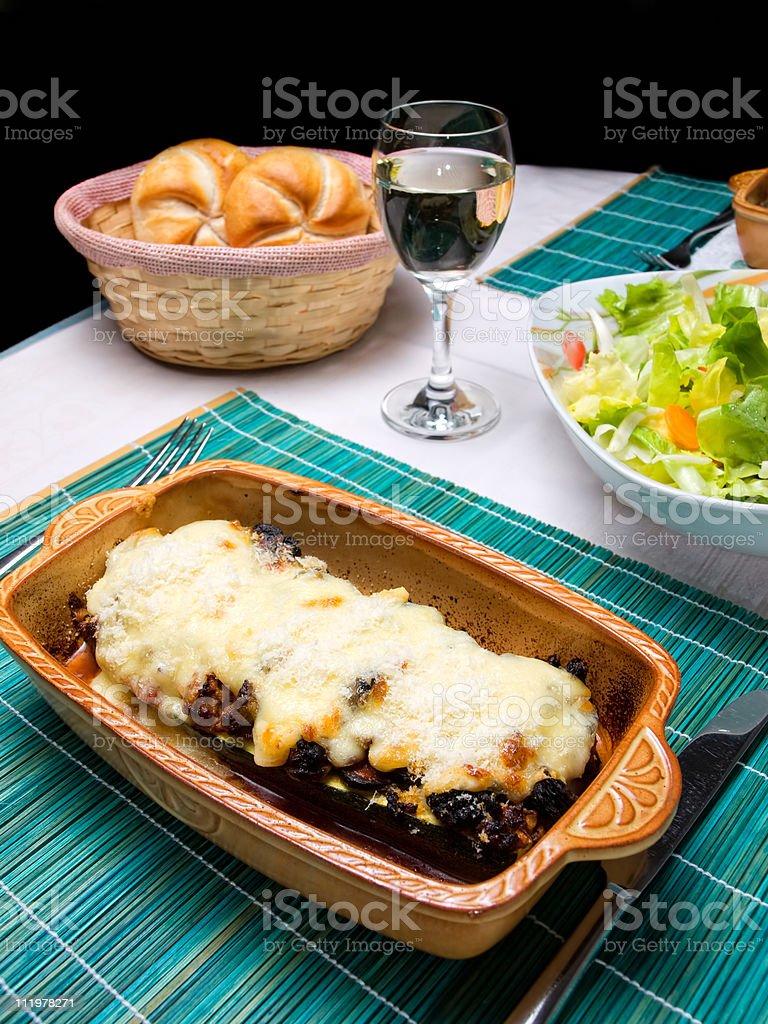 Lasagna royalty-free stock photo