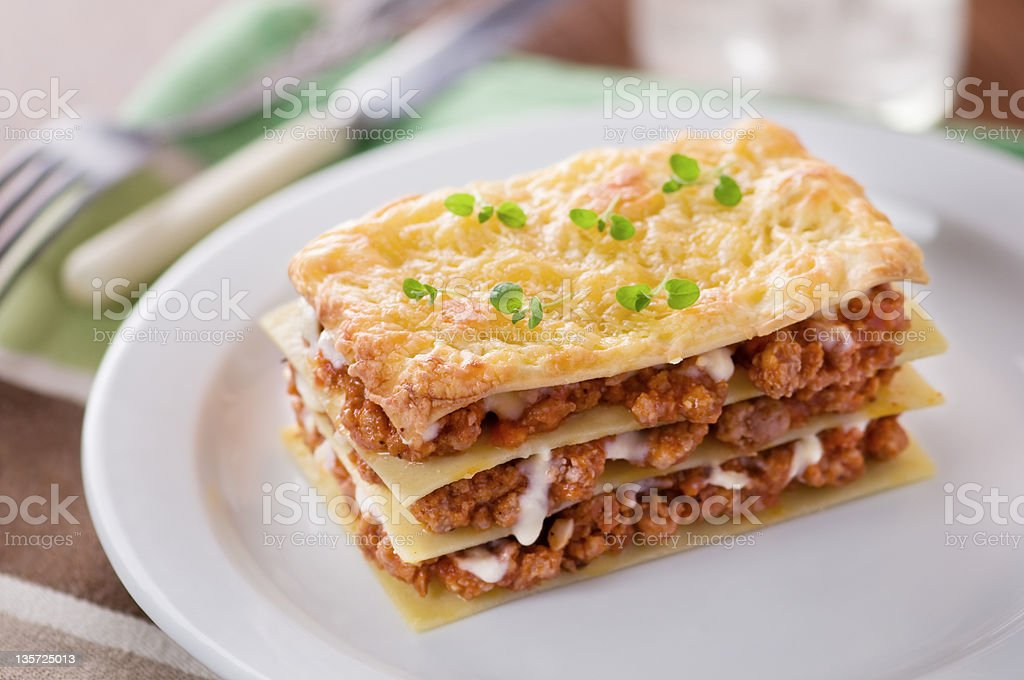 lasagna, royalty-free stock photo