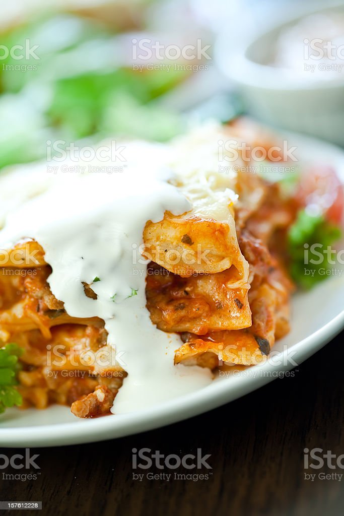 Lasagne royalty-free stock photo