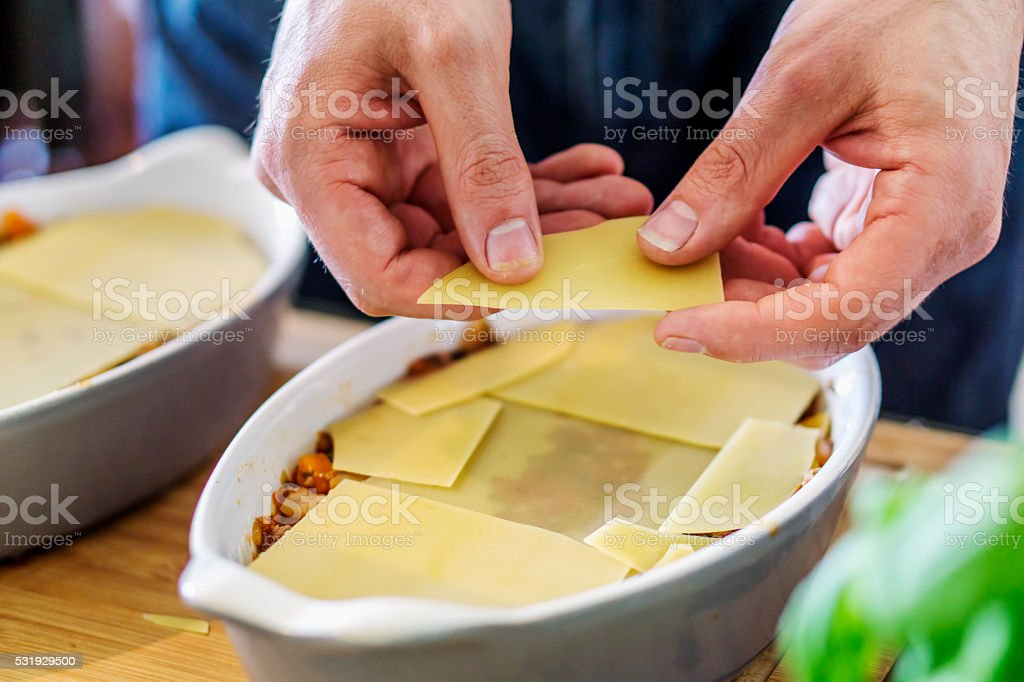Lasagne stock photo