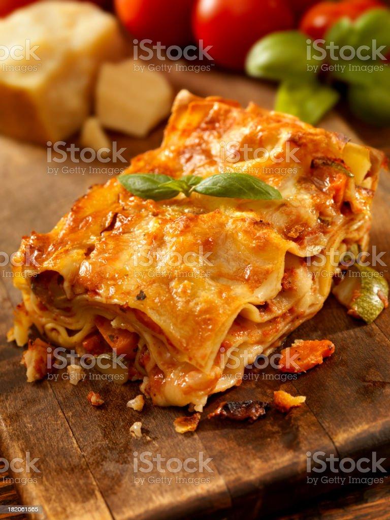 Lasagna Primavera stock photo