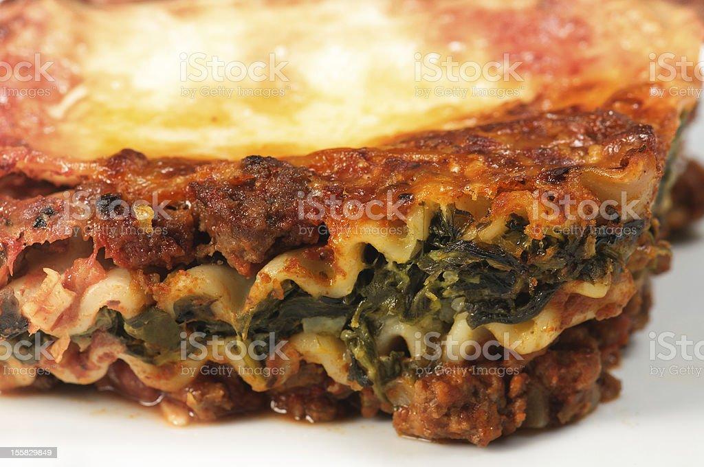 Lasagna Slice royalty-free stock photo