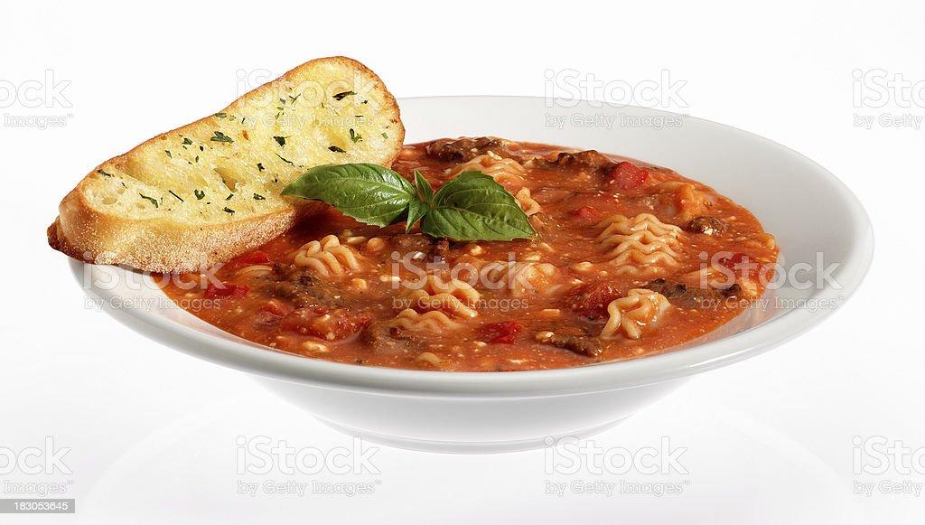Lasagna Soup stock photo