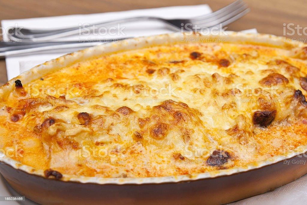 Lasagne al Forno stock photo