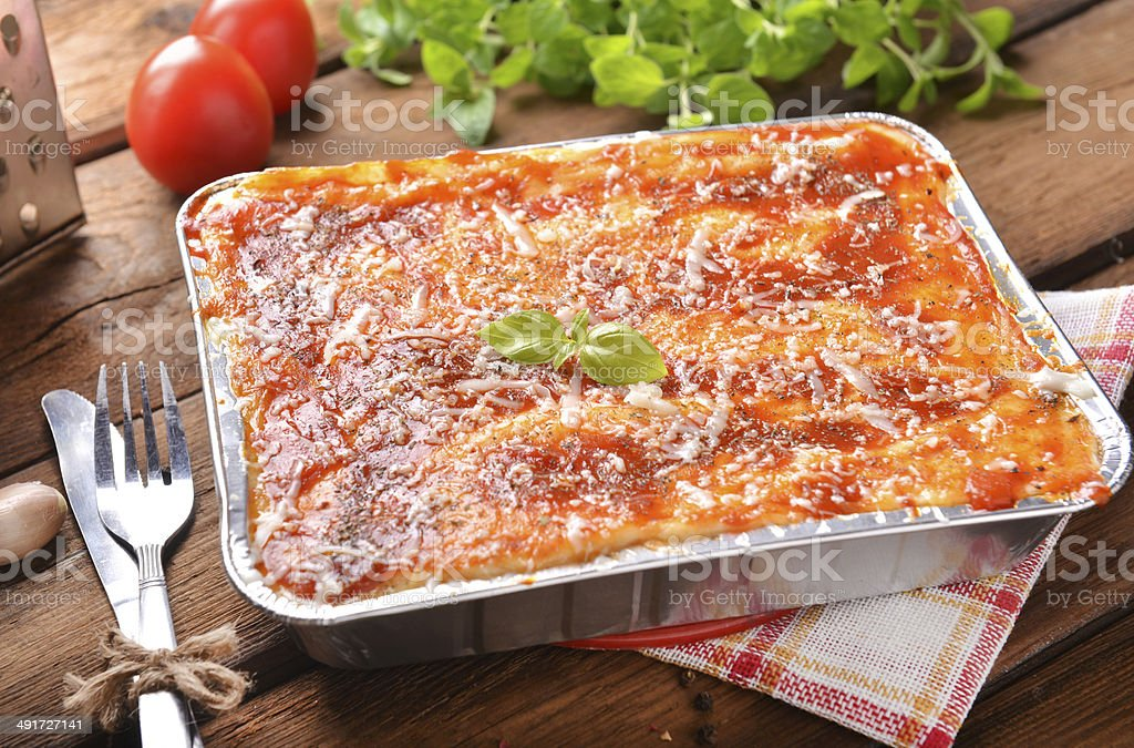 lasagne bolognese stock photo
