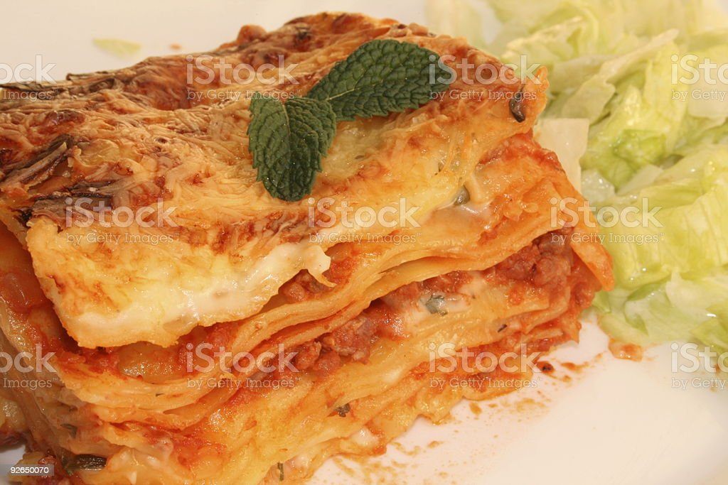 Lasagne royalty-free stock photo