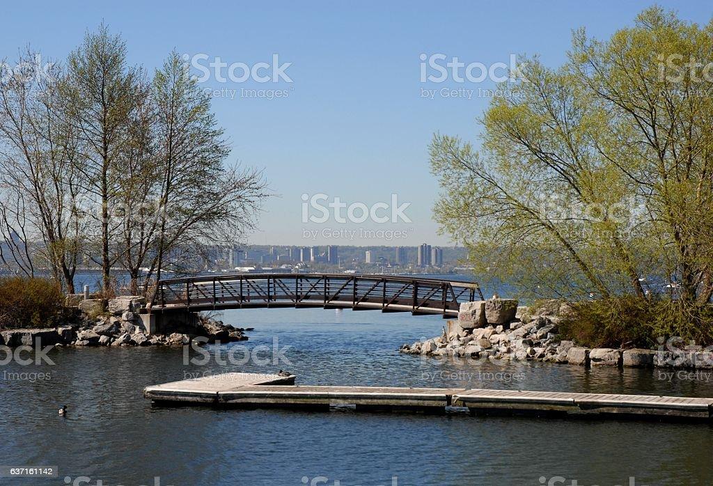 Lasalle Park Burlington Spring stock photo