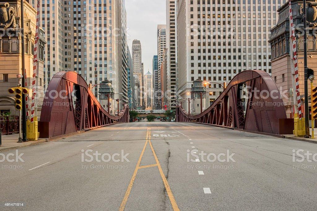 LaSalle Street Bridge stock photo