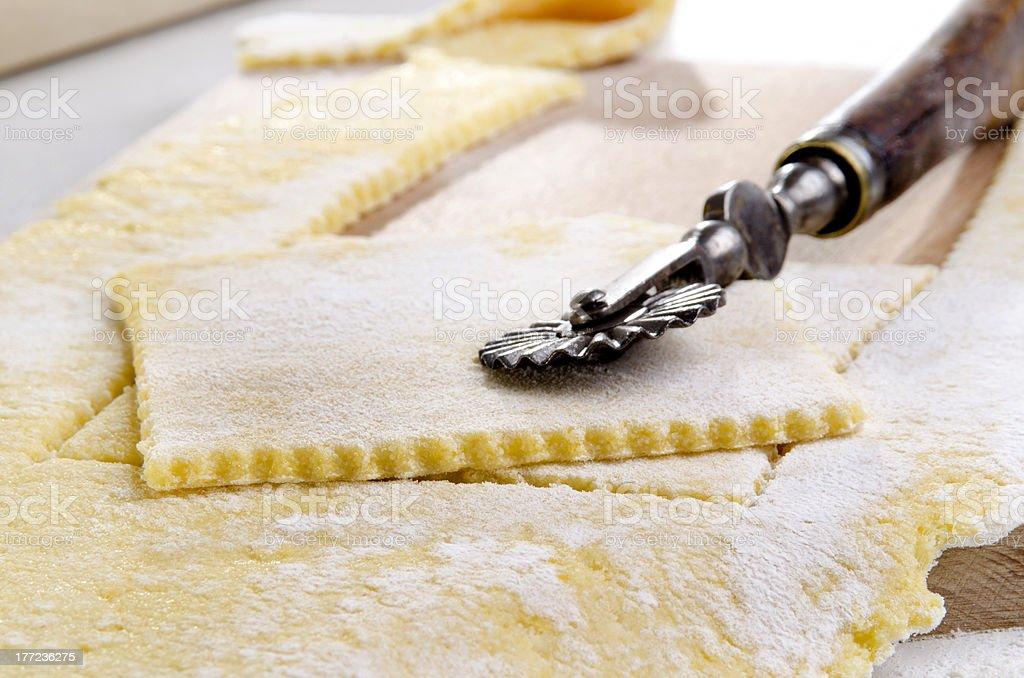 lasange plate from wheat semolina stock photo