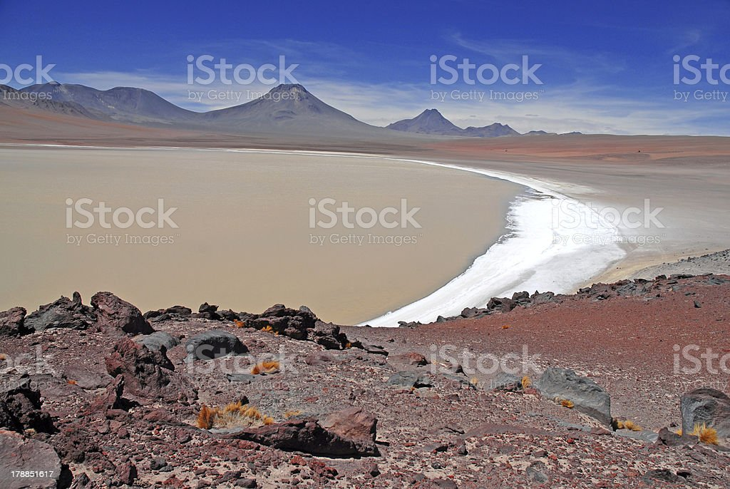 Lascar Volcano, Atacama Desert, Chile royalty-free stock photo